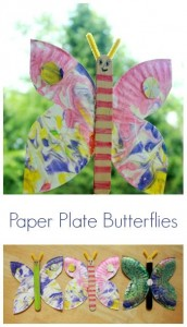 Paper Plate Butterfly Craft idea for kids