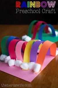 Rainbow Preschool Craft