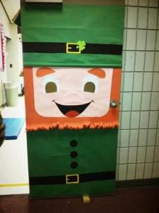 Saint Patricks day door for classroom