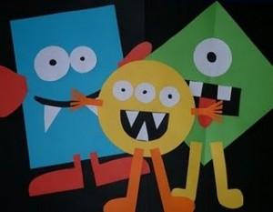 Shape Monsters craft idea for kids