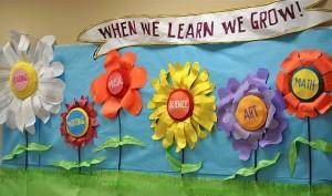 Spring School Bulletin Board