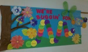 Spring bulletin board 14