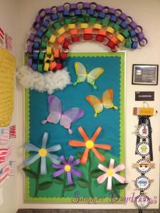Spring bulletin board idea for kid