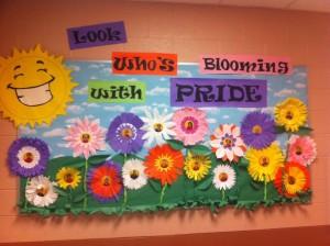 Spring flower Bulletin Board