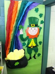 St. Patrick Day door decoration