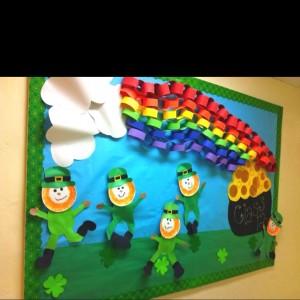 St. Patrick's Day bulletin board-