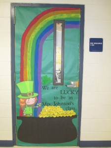 St. Patrick's Day - classroom door