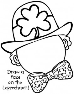 St. Patty's Day coloring sheet