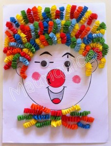 accordion clown craft