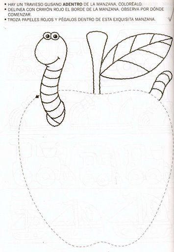 apple trace worksheet