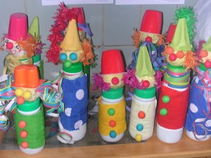 bottle clown craft