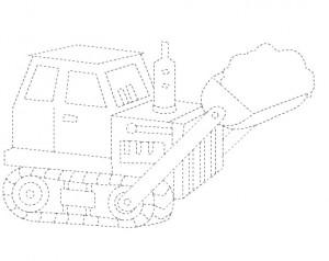 bulldozer trace