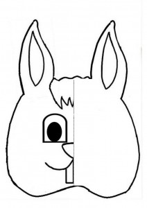 bunny Symmetry Activity Coloring Pages for kids