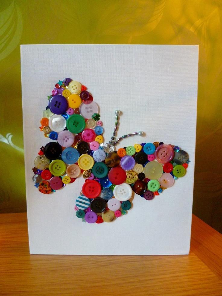 button butterfly craft