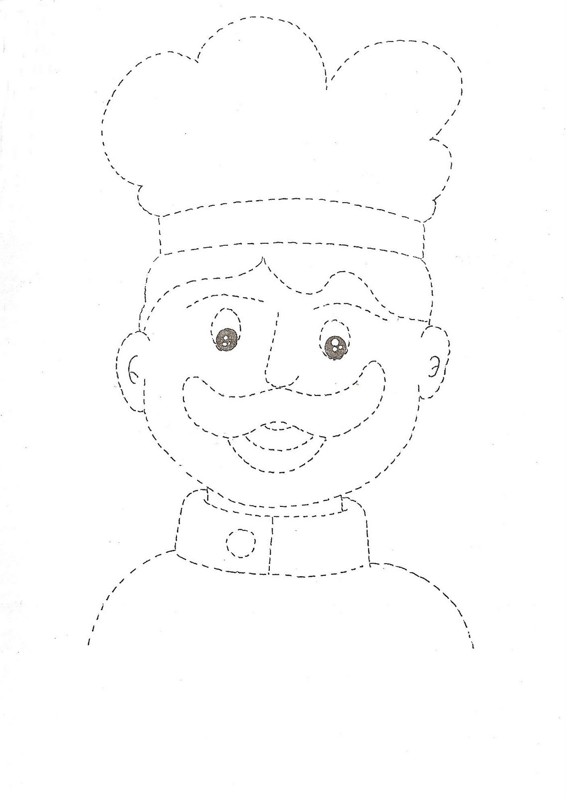 Workbooks tracing worksheets for kindergarten : Community helper trace worksheet for kids | Crafts and Worksheets ...