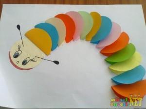 circle caterpillar craft
