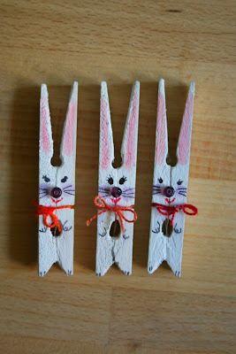 clothes pin bunny craft