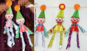 clown craft with template