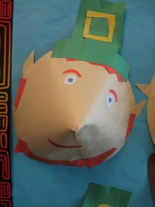 cone shaped St Patricks Day craft