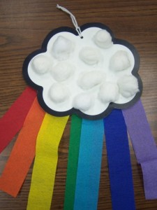 cotton balls  rainbow