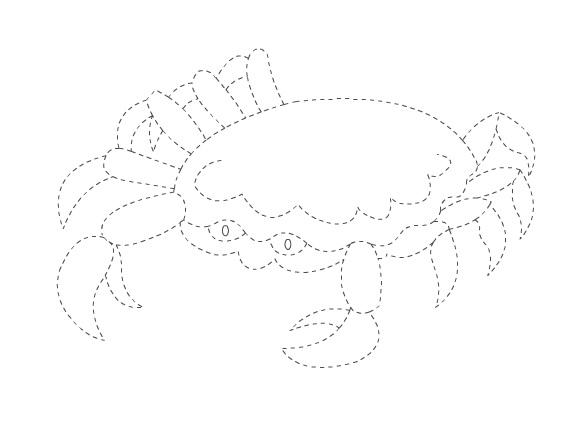 crab trace worksheet