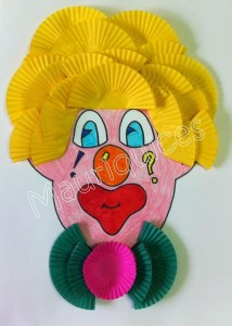 cupcak liner clown craft