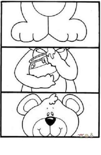 cute bear puzzle craft
