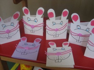 easter bunny card craft 1