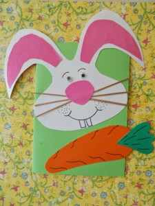 easter bunny card craft