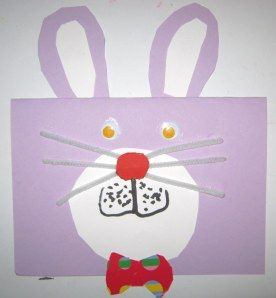 easter bunny card craft 4
