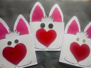 easter bunny card craft idea for kids