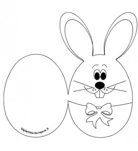 easter bunny card template 2