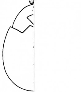 easter chick  Symmetry Activity Coloring Pages