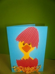 easter chick card idea