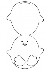 easter chick card template