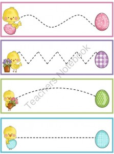 easter chick trace