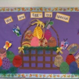 easter egg bulletin board