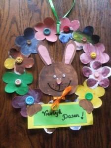 easter wreath craft fir kids