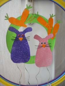 easter wreath craft idea