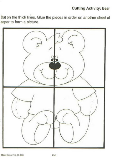 easy bear puzzle craft