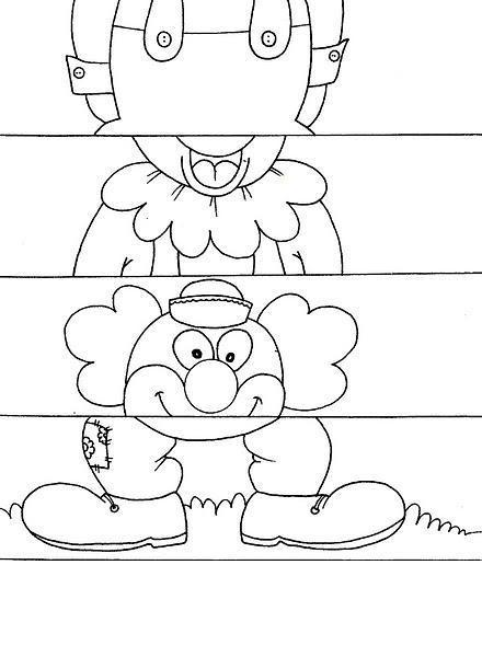 easy clown puzzle craft
