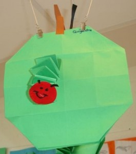 easy origami apple