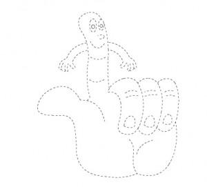 finger trace worksheet