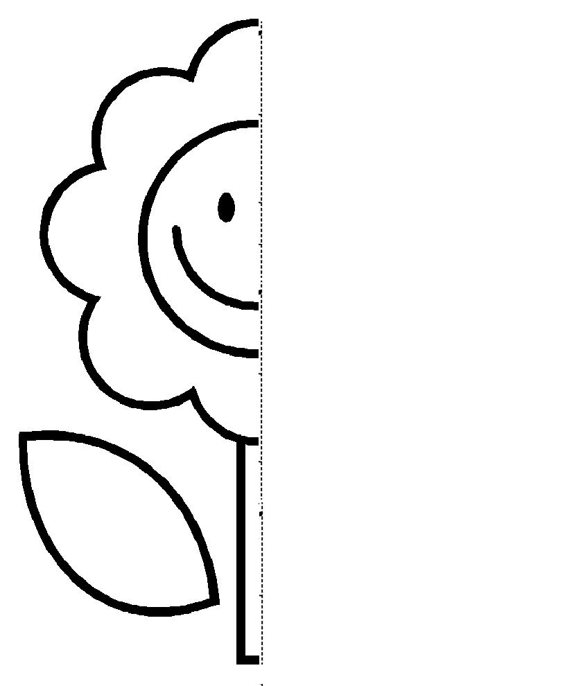 flower  Symmetry Activity Coloring Pages