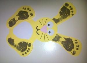 footprint bunny craft