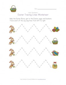 free Easter Trace the Lines