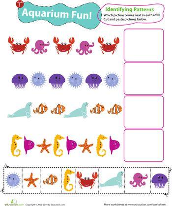free Ocean animals worksheets