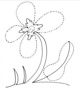 free flower trace worksheet for kids