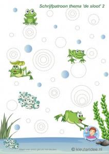 free frog  trace worksheet