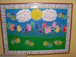 free preschool spring bulletin board